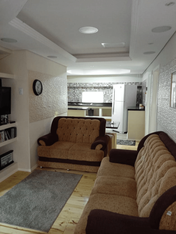 vista sala e cozinha